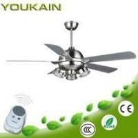 China Tropical leaves style ceiling fans 5 ABS plastic blades decorative led light fan on sale