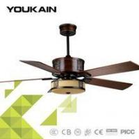 China Tropical leaves style ceiling fans 52 inch copper winding motor fancy quiet appliance on sale