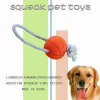 Buy cheap Pet rope toys 2014 basketball shape cotton rope pet chew toy from wholesalers