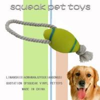 Buy cheap Pet rope toys 2014 rugby shape cotton rope pet chew toy from wholesalers