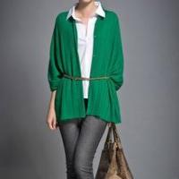 China 2013 Women Fashion Open Front Oversized 100% Cashmere Knitted Cardigan on sale
