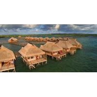 China Small Modular Prefabricated Hotel , Overwater Bungalow With Light Steel Frame on sale