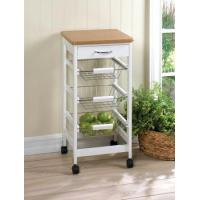 Wholesale Kitchen Trolley Series wooden kitchen vegetable storage trolley with wheels,tea trolley with wheels from china suppliers