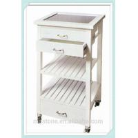 Wholesale small oak wooden kitchen trolley from china suppliers
