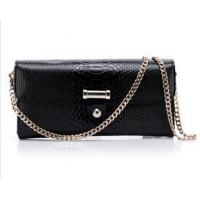 Black leather bags and purses