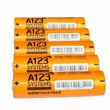 China High drain lifepo4 battery ANR32113M1 4400mah 3.2V for A123 system