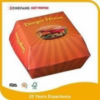 Wholesale paper cardboard Burger box from china suppliers
