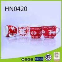 Different christmas design pattern ceramic knitted mug