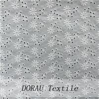 China Cotton Embroidery Fabric Cheap cotton eyelet fabric on sale