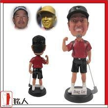 "Quality Sports Bobblehead 7"" customized personalized golfer bobble head for sale"
