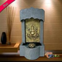 China Polyresin Kindly Hindu Gods Fountain With Light And Rolling Ball on sale