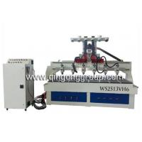 Wholesale 6 Heads Slotted Wall Grooves Cutting CNC Router Machine WS2513VH6 from china suppliers