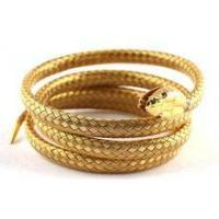 Wholesale stainless steel simulation gold snake bangle from china suppliers
