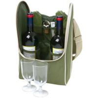 Wholesale Fashion custom made top genuine leather wine case from china suppliers