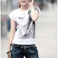 Buy cheap Rhinestones design printed t-shirt for girl from wholesalers