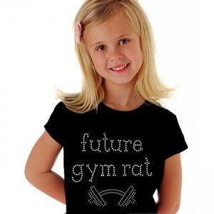China Future gym rat crystal rhinestone t shirt design