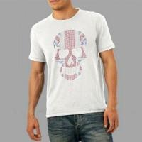 Buy cheap Skull men's 100% cotton rhinestone tshirt wholesale from wholesalers
