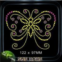 Wholesale Colorful butterfly hot fix rhinestones designs from china suppliers