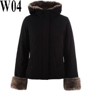 Quality Woolrich New Boulder Parka Short Down Jacket Overcoat for Lady for sale