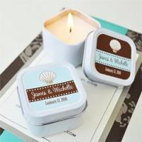 China Personalized Square Candles in Tins for sale