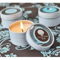 China Personalized Round Travel Candles for sale