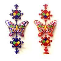 Embroidered Butterfly Wall Hangings