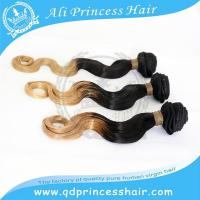 hot sales top quality no tangle no shedding Chinese virgin hair ombre two tone hair weaving 1B/613#