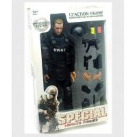 Wholesale SWAT Black Uniform Action Figure Model Toy Military Army Combat Game Toys Soldier Set from china suppliers