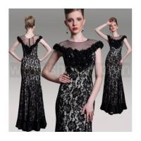 Wholesale Black Lace Celebrity Cocktail DressGorgeous Long Formal Mermaid Dress from china suppliers
