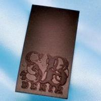 LP-081 embossed leather label