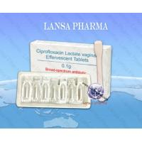 Buy cheap Ciprofloxacin Lactate vaginal Effervescent Tablets 0.1g from wholesalers