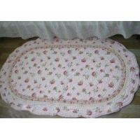 Wholesale Shabby and Vintage Oval Pink Rose Quilted Rug/mat from china suppliers