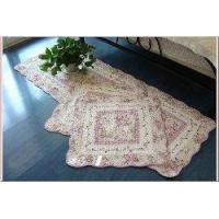 Wholesale Shabby and Vintage Pink Rose 3pc Quiltedfloor Runner/rug Set from china suppliers