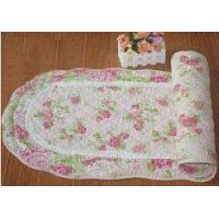 Wholesale Shabby and vintage oval wild Rose Quilted Floor runner/rug from china suppliers