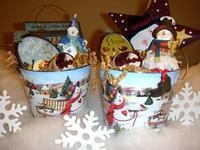 Wholesale Custom Gift Basket Ideas It's Snowing! Decorative Pail from china suppliers