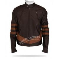 Wholesale X Men Wolverine Logans Brown Leather Jacket from china suppliers