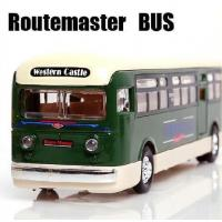 Wholesale Vehicle Toys 1:55 Scale Yellow / Green / Orange Route Master London Bus Model from china suppliers