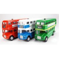 Wholesale Vehicle Toys Green / Red / Blue Classical Alloy Double Decker London Bus from china suppliers