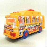 Wholesale Vehicle Toys ABS Made Cartoon Music Yellow School Bus Toy from china suppliers