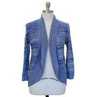 China Womens Plus Size 1X Clothing Marled Textured Cardigan Sweater Blue New on sale