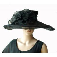 Wholesale Organza Hats For Women in Black PC281196 from china suppliers