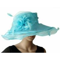 China Organza Hats For Women in Baby Blue H041 on sale