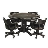 Wholesale Arcade Games HARLEY DAVIDSON BAR & SHIELD FLAMES 2 IN 1 POKER TABLE WITH 4 CHAIRS from china suppliers