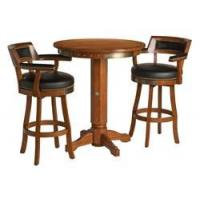 Wholesale Arcade Games HARLEY DAVIDSON BAR & SHIELD FLAMES WOOD PUB TABLE WITH 2 BACKREST STOOLS from china suppliers