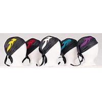Leather Skullcap with Colored Flames for sale