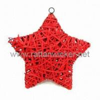 Wholesale Willow wicker star baskets, wall hanger baskets, Christmas gift decoration wicker baskets from china suppliers