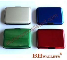 Quality Hard Shell Card Case Aluminum Wallet for sale