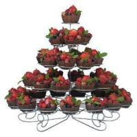 """... Perfect for festive gatherings 17-3/4"""" x 17-3/4"""" x 14-1/2"""" Coated iron"""