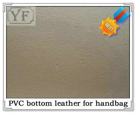 Quality PVC bottom leather(lining leather) bottom leather 0.4mm(white) for sale