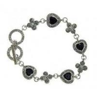 Wholesale Holiday Gifts Marcasite and Jet Black Bracelet from china suppliers